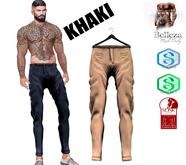 MATEO-Skinny Pants  MAZA!! Khaki On