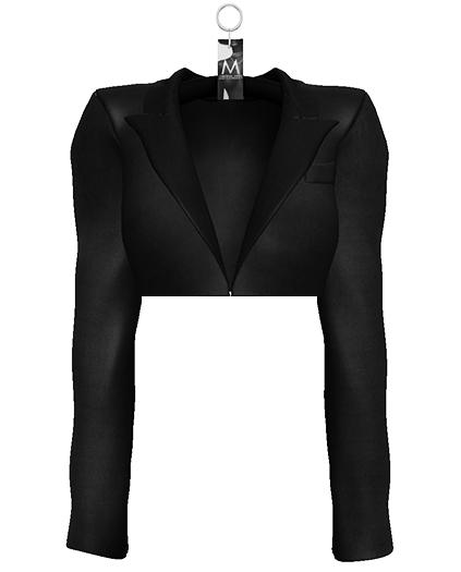 Yasmeen Crop Blazer — Onyx