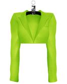 Yasmeen Crop Blazer —  Neon