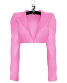 Yasmeen Crop Blazer —  Hot Pink