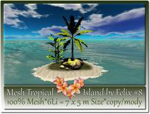 Mesh Tropical Island by Felix #8-6Li=7x5m c-m
