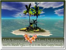 Mesh Tropical Island by Felix #5-13Li=17x11m c-m