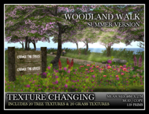 TMG - WOODLAND WALK SUMMER - TEXTURE CHANGING* Includes 20 grass textures and 20 tree textures