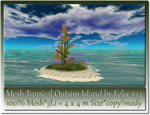 Mesh Tropical Outsim Island by Felix #14-3Li=4x4m c-m