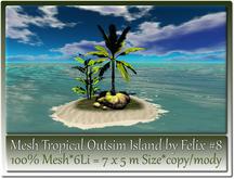 Mesh Tropical Outsim Island by Felix #8-6Li=7x5m c-m