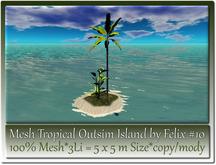 Mesh Tropical Outsim Island by Felix #10-3Li=5x5m c-m