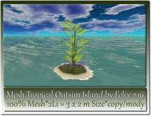 Mesh Tropical Outsim Island by Felix #16-2Li=3x2m c-m