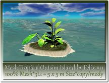 Mesh Tropical Outsim Island by Felix #11-3Li=5x5m c-m