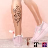 APOLLEMIS Tattoo SHOP Subtle flowers calves (R/L)
