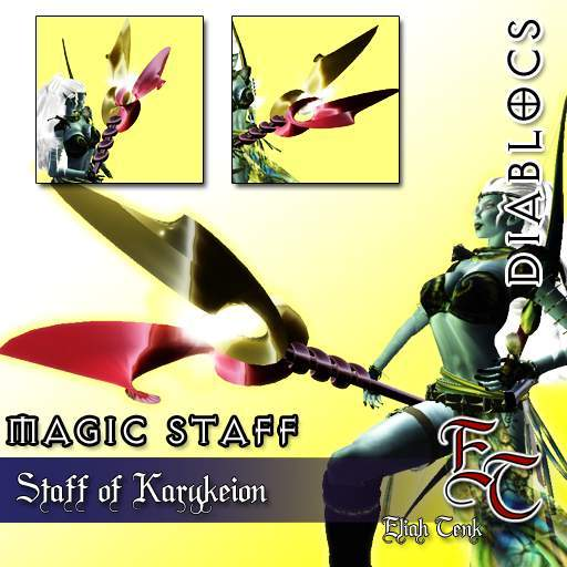DiabloCs staff of karykeion (Caduceus) BOX