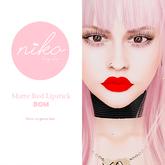 Niko Body Shop* BOM matte Red Lipstick