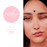 BOM Niko Body Shop*Face Heart tattoo