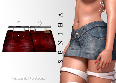 Seniha. Greta Skirt // Red