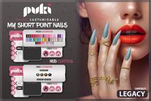 . PUKI . My Short Point Nails . Legacy BENTO . !wear me!