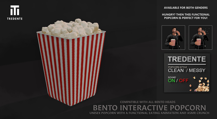 Tredente // Bento Interactive Popcorn (Packed)