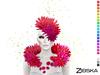 Zibska ~ Lorea Color Change Headpiece and Shoulders