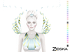Zibska ~ Alekto Color Change Necklace, Shoulders and Headpiece