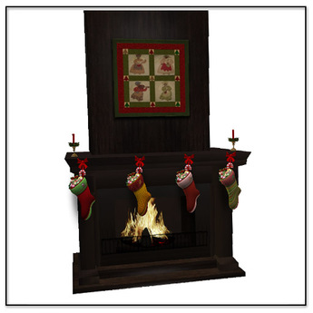 Belle Belle Christmas Fireplace