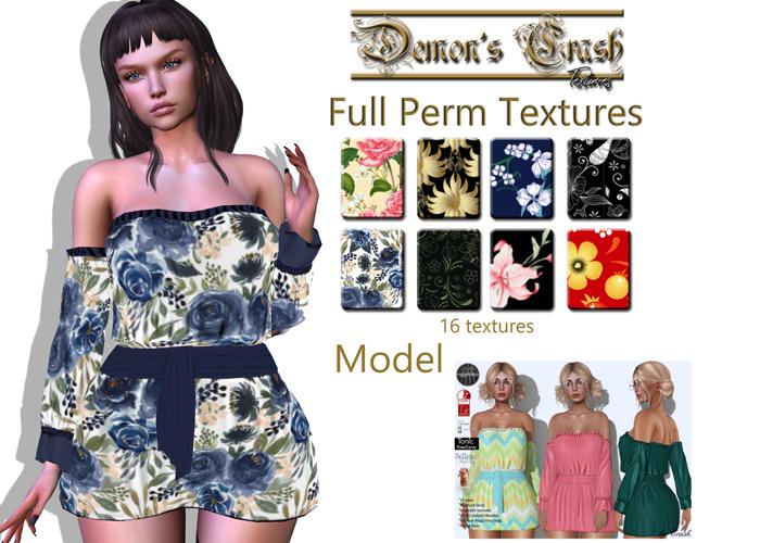 [DC] Textures  model -byCrash Full perm mesh-Boho mini dress