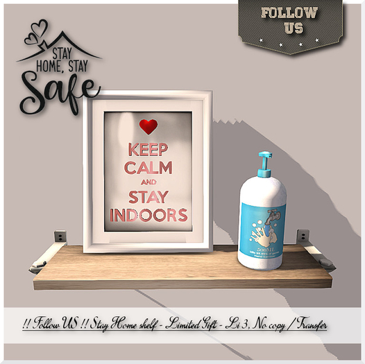 Limited - Covid19 !! Follow US !! STAY HOME shelf gift - NO COPY BOX