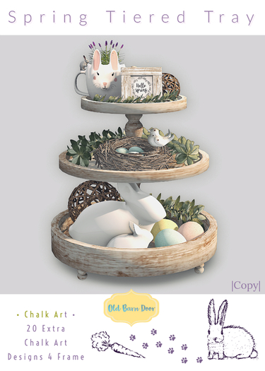 {OBD} Spring Tiered Tray