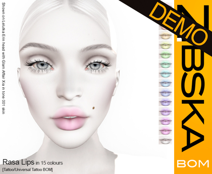 Zibska BOM Pack ~ Rasa Lips Demos [tattoo/universal tattoo BOM]