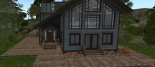**SALE 50% OFF**D-VINE DESIGNS BELLISSERIA LOG HOME LINCOLN ADD ON-b wrap around deck sidewalk 29li