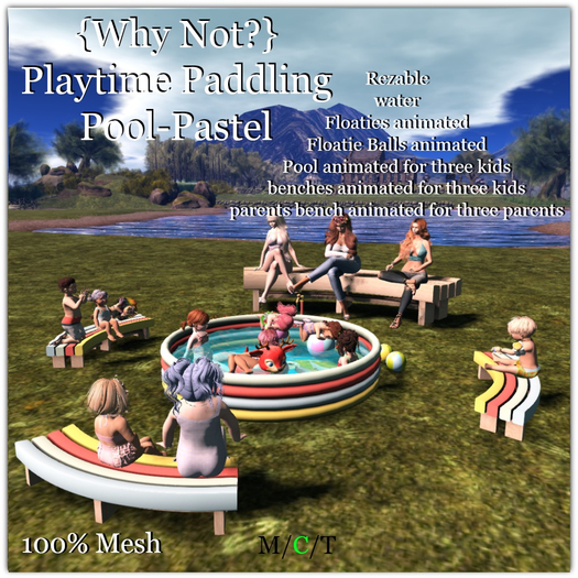 {Why Not?} Playtime Paddle Pool Pastel-Boxed