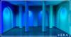 HERA - Columns Backdrop - Blue