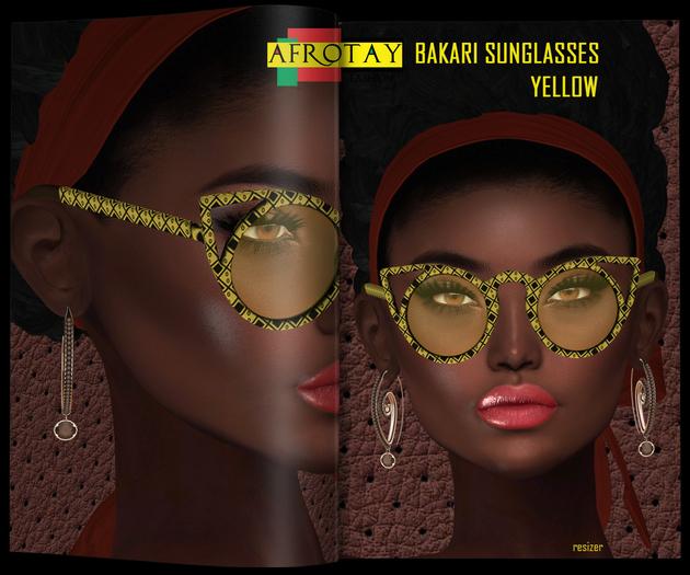 [AFROTAY] Bakari Sunglasses Yellow