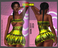 [AFROTAY] Hakima Outfit GREEN