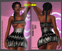 [AFROTAY] Hakima Outfit GREY