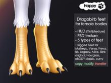 Happy Paw - Dragobirb feet (for female bodies)