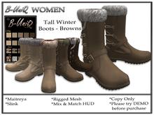 B-UniQ Womens - Tall Winter Boots - Browns