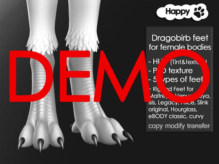 Happy Paw - Dragobirb feet (for female bodies) DEMO