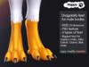 Happy Paw - Dragobirb feet (for male bodies)