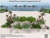 M21 Tropical Flowers Shrubs Plants Garden Rocks Arrangement. M/T