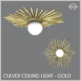 Sequel - Culver Ceiling Light - Gold