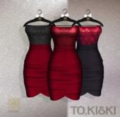 TO.KISKI - Catalina Cocktel Dress - Red Box (add me)