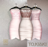 TO.KISKI - Catalina Cocktel Dress - Nude & Pink Box (add me)