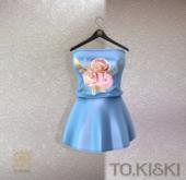 TO.KISKI - Candy Mini Dress / Flower Sky (add me)