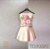 TO.KISKI - Candy Mini Dress / Flower Gold (add me)