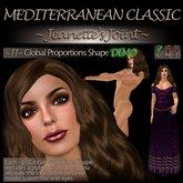 ~JJ~ Global Proportions DEMO Shape (Mediterranean Classic)