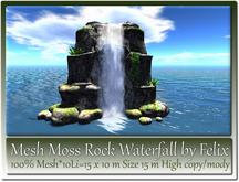 Mesh Moss Rock Waterfall by Felix 10Li=15x10m Size 15m High c-m