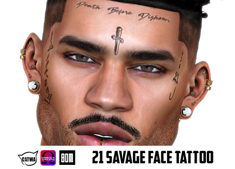 11+ 21 Savage Tattoo Cross