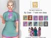 [LS] TEXTURE (FAT) PACK - byCrash - T-shirt mini dress