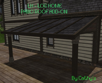 LH - Log Home - Grand View_ Patio Roof_ Add-On
