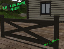 LH - Log Home - Grand View_Fence _ Boxed