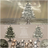 1){anc} tree for two / christmas tree (25) RARE