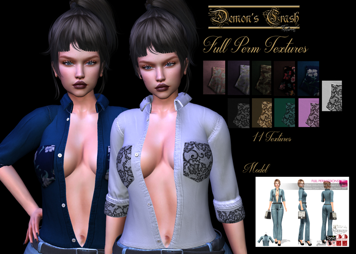 [DC] Textures  model -MELI  Diesel Blue Bell-Bottom Retro-TOP